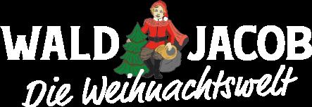 Die Waljacob Weihnachtswelt Logo weiß